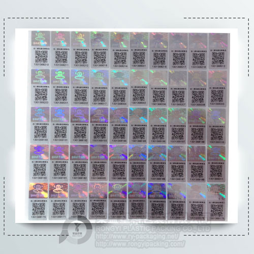 Laser security hologram label anti-fake holographic sticker