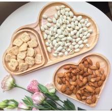 Ξύλινη γλυκιά επιδόρπια επιτραπέζια πιάτα σερβιρίσματος