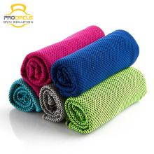 Melhor Toalha feita sob encomenda da esteira da ioga de Microfiber toalha antiderrapante de refrigeraço
