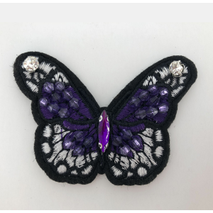 colorful machine beaded butterfly patch
