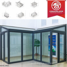 Factoy Custom Sun Room, casa de cristal de aluminio, la moda y cómodo Full View House