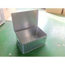 Caixa de ferramentas de alumínio de prata OEM / ODM