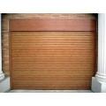 Wood grain color garage shutter door aluminum profile