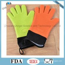 Длинные и теплые 5-пальцевые силиконовые перчатки для выпечки Sg30