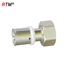 L 17 4 13 tubería de agua a presión de latón con ajuste de presión unión hembra prensas de unión para tubería pex-al-pex