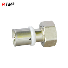 L 17 4 13 brass press fitting water pipe press fitting female union press fittings for pex-al-pex pipe
