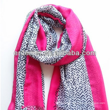 polyester printed branded shawl