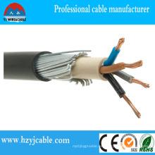 Cable eléctrico subterráneo Cable de alimentación blindado del alambre de acero XLPE 4X70mm2