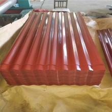 Hoja de techo de acero galvanizado verde