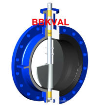Series13 Centric Double Flange Butterfly Valve Rubber Lined on Body