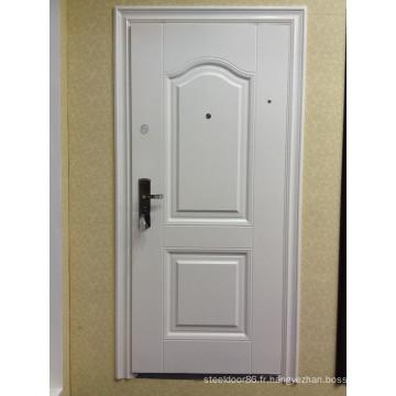 50mm 70mm sécurité porte en acier KKJ-301 dans la couleur blanche