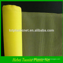 yellow plastic window screen