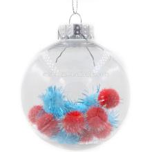 Atractivas bolas de plástico transparente de Navidad de Navidad