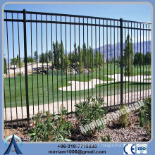 Anping Factory Powder Coated galvanized steel garden fence, antique garden fence, cheap garrison fencing