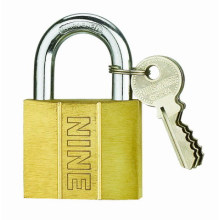 Dent Type Solid Brass Padlock Sand Polish (BY350)