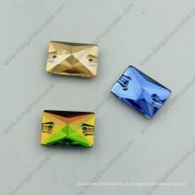 Retângulo costurar em pedras de vidro para decoração de vestuário
