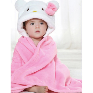 Baby Towel Hood Coral Fleece Baby Hooded Towel