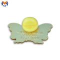 Crachá de alfinete de lapela de borboleta colorida para presentes