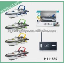 2013 novo estilo mini 4 canais rc de alta velocidade sem fio brinquedos barco H111889
