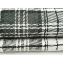 Tejido de tela de franela teñida de Cr para pijamas y pijamas