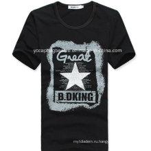 Мужская футболка из органического хлопка, футболка с изображением моды