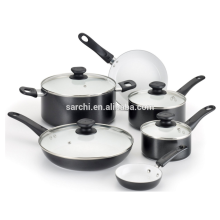 10 pcs ceramic press aluminum cookware set
