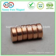 D25x4mm n42 круглый магнит меднение
