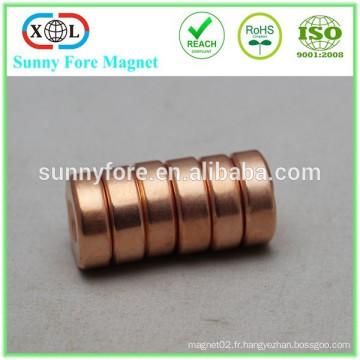 D25x4mm n42 ronde aimant de cuivrage