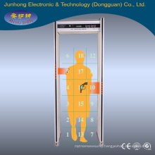 Security & Protection inpesction machine,JH-5B(LCD) Walk through metal detector(18zones)