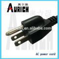 UL Standrad cordon d'alimentation populaire câbles PVC 125 v