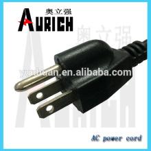Sistema de alimentación de CA Cable de alambre para el cable de la UL 125V