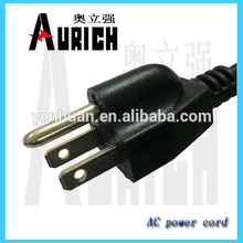 125V 5A Plug electrodomésticos cabo cabo de alimentação Ac 125V