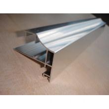 Polished Silver Aluminium Profile for Wardrobe
