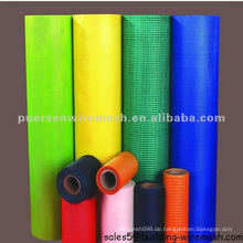 Fiberglas Mesh 5x5mm, 145g / m2, grün, blau