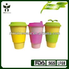 2014 taza de café de venta caliente de la fibra de bambú