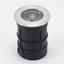 3W Black Led Inground Light