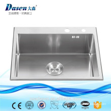 Hot selling model 730*450 double stainless steel modern kitchen designs in foshan city manufacture single bowl kitchen sink sin