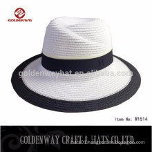 Promotional Two-color Panama hat with Ribbon