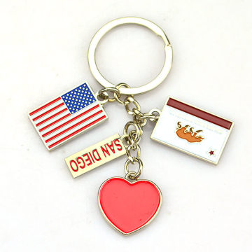 High Quality Custom Zinc Alloy 3D Metal Keychain