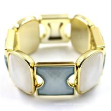 Antiquado estilo energia envoltório Matel com bracelete de cristal