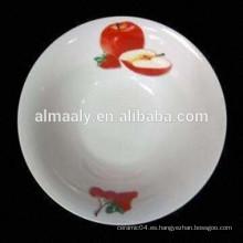tazón barato de fideos de porcelana con calcomanía de frutas
