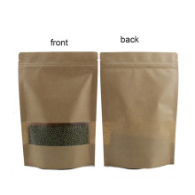 Borsa con zip in carta Kraft Paper Stand Up