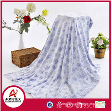 sleepwear picnic printing blanket double face digital print sherpa blanket