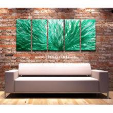 Quente venda abstrato pinturas a óleo verde para decoração de casa