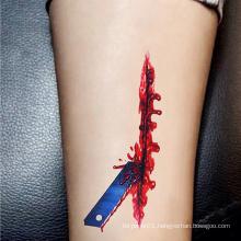 New Creative Wound Injury Scars Tattoos Halloween Face Tattoo Sticker