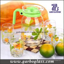 Limão de vidro 7PCS definido com impressão