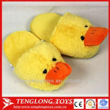 Большой желтый утка закрытый тапочки плюшевых животных тапочки