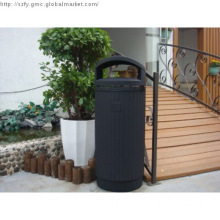 hot sale good quality cast aluminum public trash bins