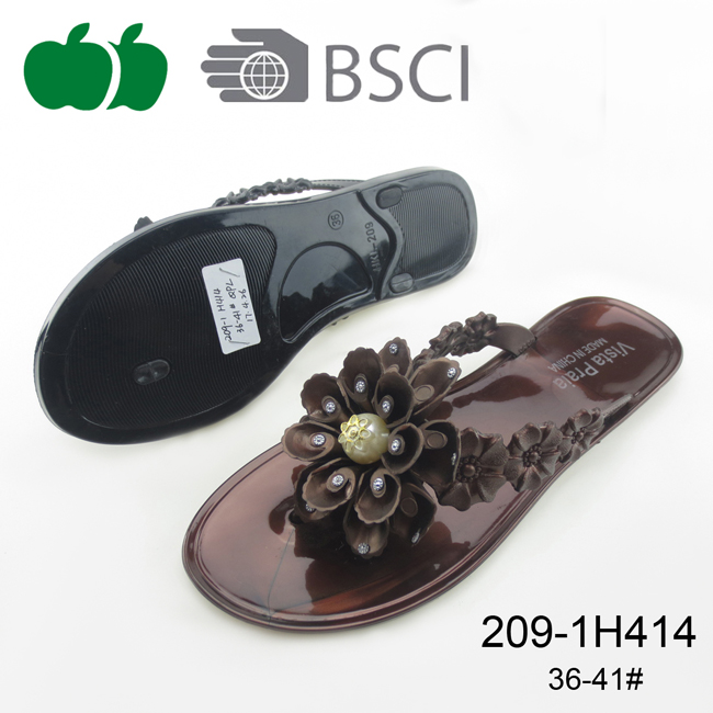 Women's Fashion Style Beach Pvc Flip Flops