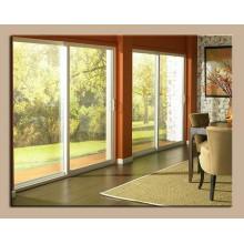 De Bonne Qualité Portes en verre coulissantes en aluminium d'intérieur / patio